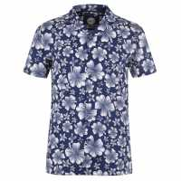Hot Tuna Щампована Риза Short Sleeve All Over Print Shirt Hibiscus Мъжки ризи
