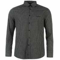 Pierre Cardin Мъжка Риза Дълъг Ръкав Long Sleeve Shirt Mens Blue/Navy Geo Мъжки ризи