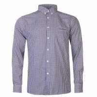 Pierre Cardin Мъжка Риза Дълъг Ръкав Long Sleeve Shirt Mens Burg Gingham Мъжки ризи