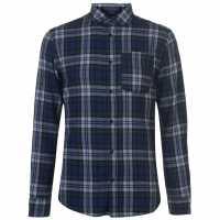 Jack And Jones Риза С Дълъг Ръкав Originals Steven Long Sleeve Shirt Forest Night