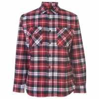 Мъжка Риза Dunlop Brawny Workwear Shirt Mens Black/Red Мъжко облекло за едри хора