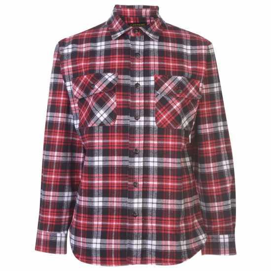 Dunlop Мъжка Риза Brawny Shirt Mens Black/Red Мъжки ризи