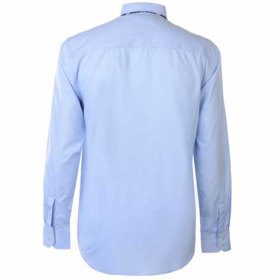 Pierre Cardin Риза С Дълъг Ръкав Long Sleeve Shirt Tie Set Mens Blue/Navy Plain Мъжки ризи