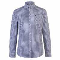 Soviet Мъжка Риза Gingham Shirt Black/Blue Мъжки ризи