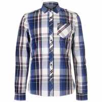 Firetrap Карирана Риза Blackseal Lightweight Checked Shirt  Мъжки ризи