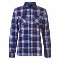 Soulcal Мъжка Риза Flannel Shirt Mens Royal/Red/White Мъжки ризи