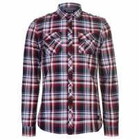 Firetrap Карирана Риза Blackseal Long Sleeve Checked Shirt  Мъжки ризи