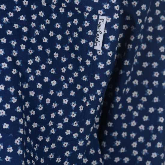 Pierre Cardin Риза С Дълъг Ръкав Floral Long Sleeve Shirts Mens Blue/Wht Ditzy Мъжки ризи