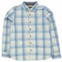 Soulcal Карирана Риза Дълъг Ръкав Long Sleeve Check Shirt Junior Boys Navy/Red/White Детски ризи