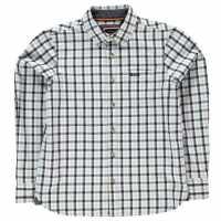 Soulcal Карирана Риза Дълъг Ръкав Long Sleeve Check Shirt Junior Boys Sky/Navy/Cream Детски ризи