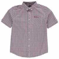Ben Sherman Карирана Дамска Риза House Check Shirt Junior Boys Red Детски ризи