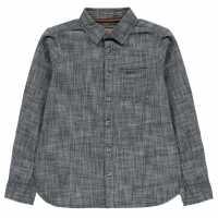 Soulcal Риза С Дълъг Ръкав Long Sleeve Shirt Junior Boys Indigo Wash Детски ризи