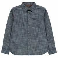 Soulcal Риза С Дълъг Ръкав Long Sleeve Shirt Junior Boys Mid Wash Детски ризи