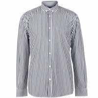 Pierre Cardin Мъжка Риза Дълъг Ръкав Bold Stripe Long Sleeve Shirt Mens Navy/White Мъжки ризи