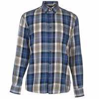 Pierre Cardin Мъжка Риза Long Sleeve Twill Shirt Mens Blue/Grey Мъжки ризи