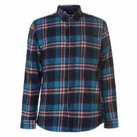 Pierre Cardin Карирана Риза Дълъг Ръкав Long Sleeve Check Shirt Mens Blue/Nvy/Wht Мъжки ризи