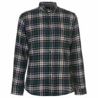 Pierre Cardin Фланелена Риза Long Sleeve Flannel Shirt Mens Blk/Nvy/Grn/Wht Мъжки ризи