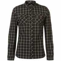 Firetrap Карирана Риза Дълъг Ръкав Blackseal Long Sleeve Check Shirt  Мъжко облекло за едри хора
