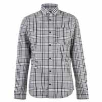 Jack And Jones Риза С Дълъг Ръкав Core Cube Long Sleeve Shirt Light Grey Мъжки ризи