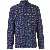Star Мъжка Риза Дълъг Ръкав Christmas Long Sleeve Shirt Mens Blue Мъжки ризи