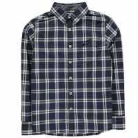 Soulcal Карирана Риза Дълъг Ръкав Long Sleeve Check Shirt Junior Boys Navy/White Детски ризи