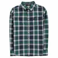 Soulcal Карирана Риза Дълъг Ръкав Long Sleeve Check Shirt Junior Boys Navy/Green/Wht Детски ризи