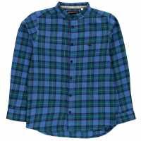 Soulcal Woven Shirt Junior Boys Blue Check Детски ризи