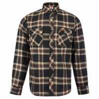 Lee Cooper Карирана Мъжка Риза Slim Fit Check Shirt Mens Black/Grey Мъжки ризи
