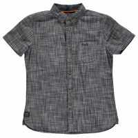 Soulcal Дънкова Риза Short Sleeve Denim Shirt Junior Boys Indigo Детски ризи