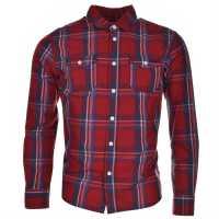 Lee Cooper Карирана Риза Дълъг Ръкав Long Sleeve Check Shirt Junior Boys Red/Nvy/Wht/Blu Детски ризи