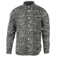 Lee Cooper Long Sleeve All Over Pattern Textile Shirt Boys Charcoal AOP Детски ризи