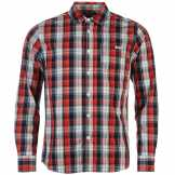 Lee Cooper Карирана Риза Дълъг Ръкав Long Sleeve Check Shirt Junior Boys Navy/Red/White Детски ризи