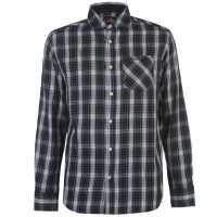 Pierre Cardin Карирана Мъжка Риза Tartan Check Long Sleeve Shirt Mens Grn/Blue/Wht Мъжко облекло за едри хора