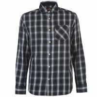 Pierre Cardin Карирана Мъжка Риза Tartan Check Long Sleeve Shirt Mens Grn/Blue/Wht