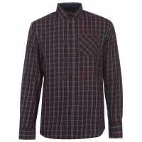 Pierre Cardin Карирана Мъжка Риза Tartan Check Long Sleeve Shirt Mens Navy/Red/Wht Мъжко облекло за едри хора