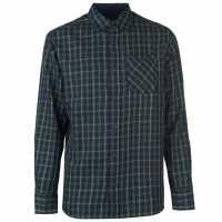 Pierre Cardin Карирана Мъжка Риза Tartan Check Long Sleeve Shirt Mens Grn/Red/Yell Мъжко облекло за едри хора