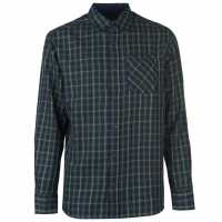Pierre Cardin Карирана Мъжка Риза Tartan Check Long Sleeve Shirt Mens Grn/Red/Yell