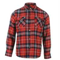 Lee Cooper Фланелена Риза Flannel Shirt Junior Boys Red/Navy/White Детски ризи