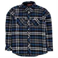 Kickers Фланелена Риза Long Sleeve Flannel Shirt Junior Boys Black Check Детски ризи