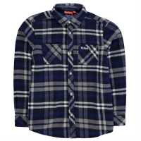 Kickers Фланелена Риза Long Sleeve Flannel Shirt Junior Boys Navy Check Детски ризи