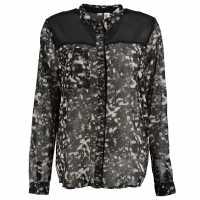 Oneill Emb Shirt Ldscl99 Black AOP Дамски ризи и тениски
