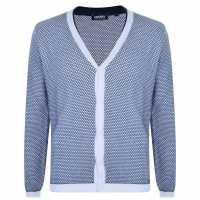 Dkny Плетена Жилетка Knit Cardigan White Мъжки пуловери и жилетки