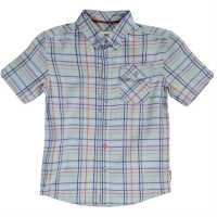 Ben Sherman 00T Short Sleeved Juniors Shirt Light Sky Blue Детски ризи