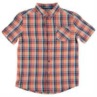 Ben Sherman 06T Short Sleeved Juniors Shirt Orange Детски ризи