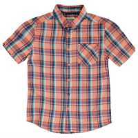 Ben Sherman 06T Short Sleeved Juniors Shirt Deep Coral Детски ризи