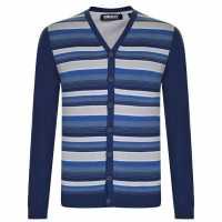 Dkny Плетена Жилетка Stripe Cardigan Blue Мъжки пуловери и жилетки