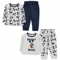 Character 2 Pack Pyjamas Baby Mickey Mouse Детско облекло с герои