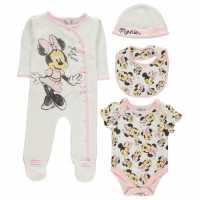 Character 4 Piece Romper Set Baby Minnie Mouse Детско облекло с герои