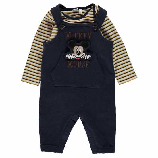 Character Dungeree Set Baby Mickey Mouse Детски дънки