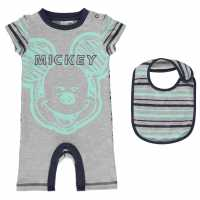 Character Short Sleeve Romper Set Babies Mickey Mouse Детско облекло с герои